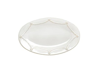 "Berry & Thread Whitewash 12"" Oval Platter"