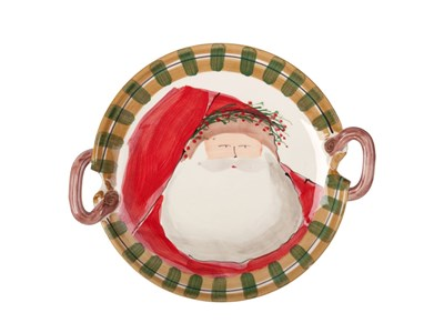 Old St. Nick Round Handled Platter