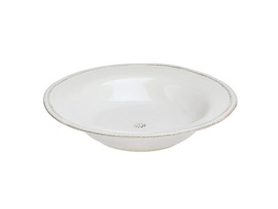 Berry & Thread Whitewash Rimmed Soup Bowl